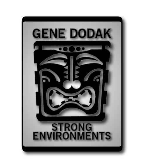 Gene Dodak : Ceramic Art : Strong Environments Retina Logo